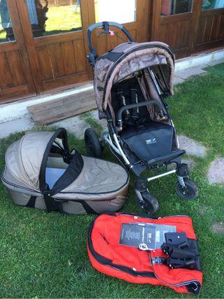 Silla, carro y grupo 0, con saco y protector lluv Tfk joffster