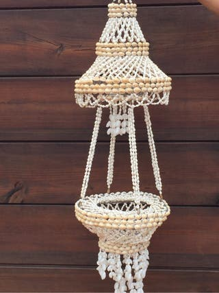 Lámpara de conchas