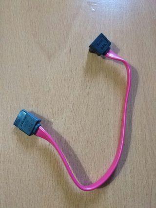Cable Sata datos Rojo acodado