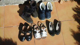 5 pares de zapatos niña