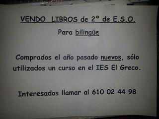libros texto bilingüe 2°ESO