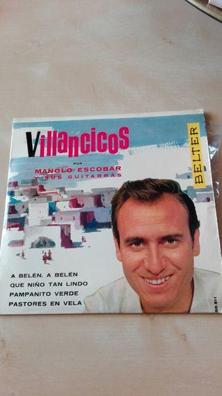 Disco vinilo EP Manolo Escobar Villancicos
