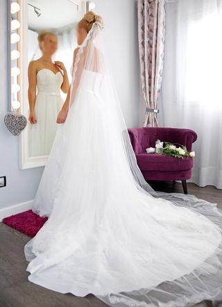 vestido de novia talla 38 de segunda mano en mollet del vallès en
