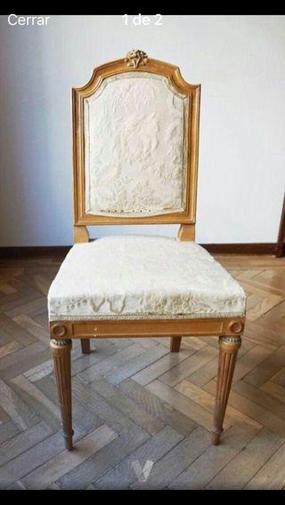 Sillas de madera vintage de segunda mano en wallapop for Sillas madera segunda mano