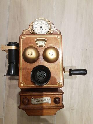 radio reloj decoracion