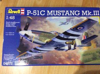 Maqueta avion P51 Mustang
