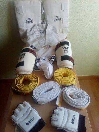 protecciones,taekwoondo,arte marciale,kimono,dobok