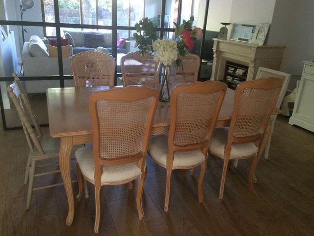 Mesa comedor madera maciza y 6 sillas de segunda mano por en alcobendas en wallapop - Wallapop mesa comedor ...