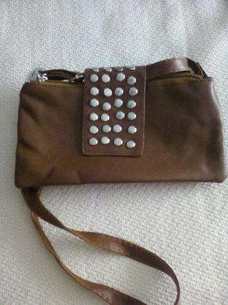 bolso cartera marrón