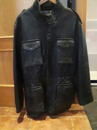chaqueta clasica de cuero motorista custom