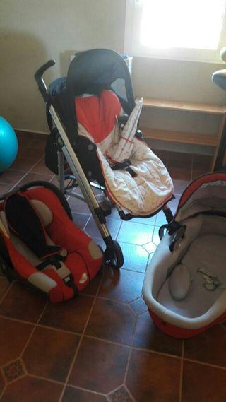Carro, cuco y maxi-consi para bebe.