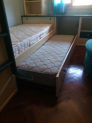 habitación completa tres camas