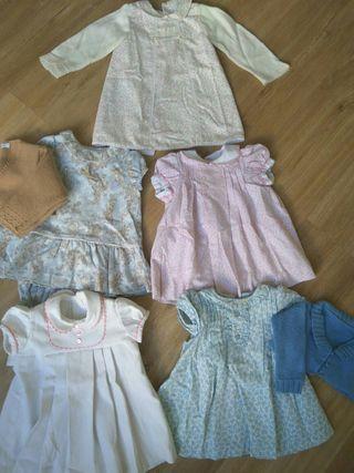 vestidos bebe niña talla 6m lote