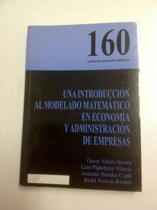 Una introducción al modelado matemático en economía y ade UIB 160