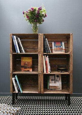 Muebles de cajas de madera