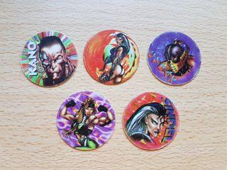Lote tazos Mortal Kombat 3 de Dunkin super caps