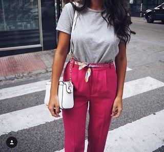 Pantalón rosa fucsia Zara