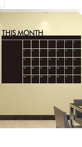 Vinilo calendario pizarra