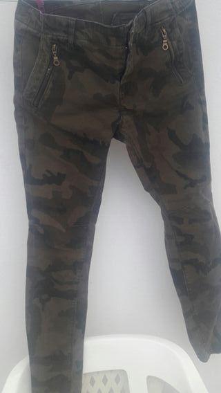 pantalon militar zara