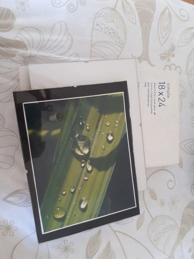 2 marcos de cristal para fotos 18 x 24 de segunda mano por 6 € en ...