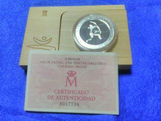 Moneda 2000 pesetas plata arquero prehistorico