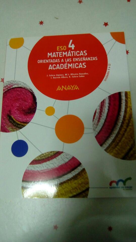 Matematicas 4 ESO de segunda mano por 5 € en Las Rozas de Madrid en ...