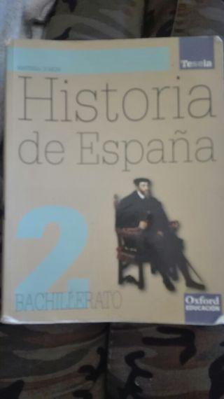 Libro historia de España 2 de bachillerato oxford