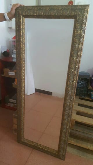 Espejo vintage 135x55cm de segunda mano en esplugues de for Espejo segunda mano