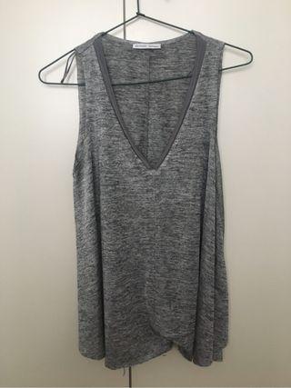Camiseta Gris Zara