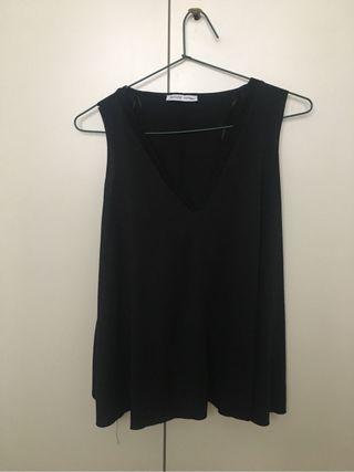 Camiseta negra Zara