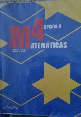 Libro Matemáticas 4 opción B Anaya