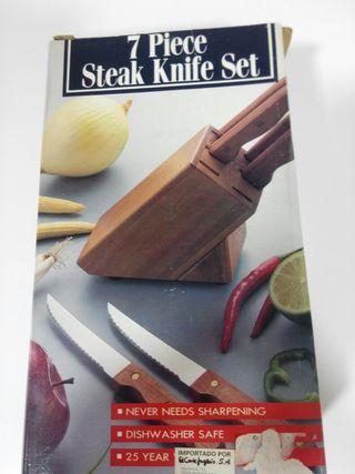 set cuchillos carne con tacoma