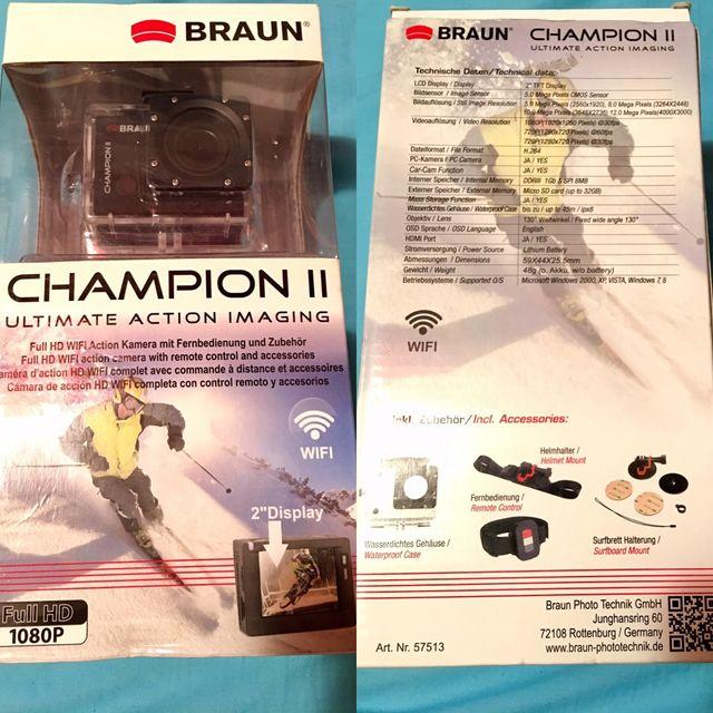 Cámara Deportiva Braun Champion II