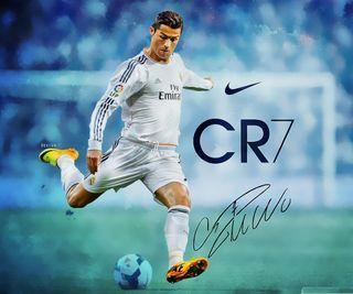 póster de Cristiano Ronaldo, firma original