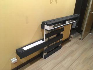 Mueble taquillón cubrerradiador hecho con palet