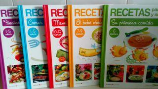 libros de recetas comidas bebe