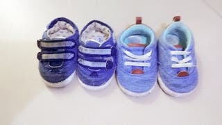 pack 2 zapatillas bebe 3meses a 9 meses