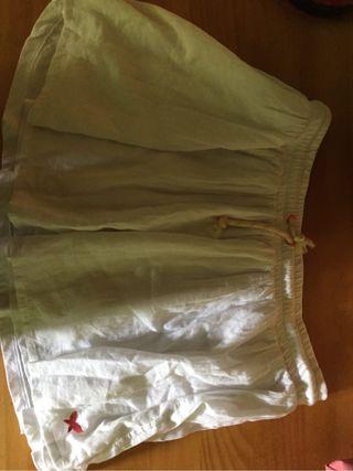 Falda blanca de marca