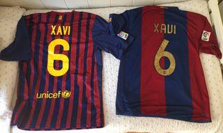 """Camisetas Barça 06/07 y 11/12 """"Xavi"""" Tallas L y XL"""