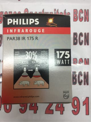 6 Bombillas infrarojos philips