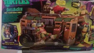 furgoneta tortugas ninja con figuras