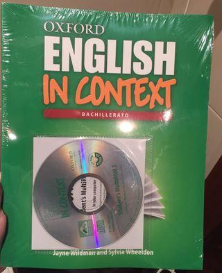 Libro nuevo English in context de bachillerato