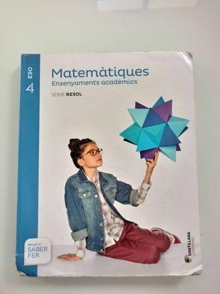 Matematicas, ensenyaments academics 4ESO