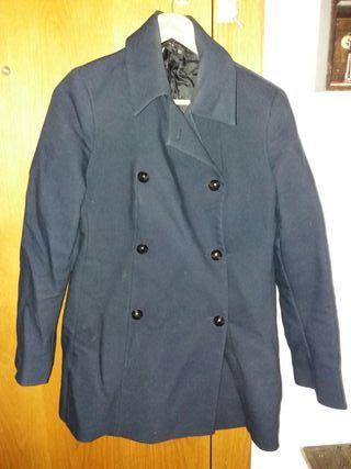 abrigo azul zara talla xl