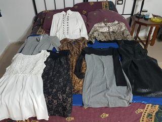 vestidos y dos chaquetas