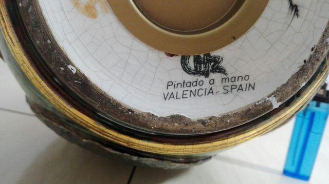 Lampara vintage pintada a mano chz valenciana