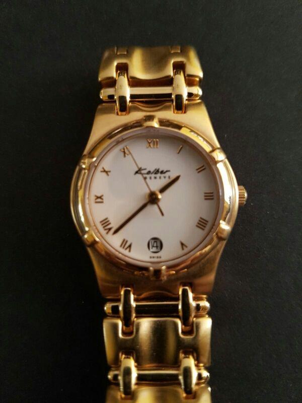 Reloj Kolber nuevo a estrenar recubrimiento oro 1° de segunda mano ...