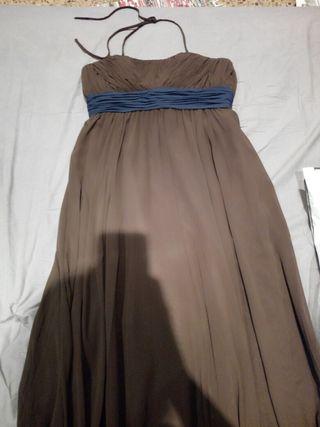 vestido noche marrón talla 42
