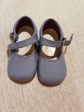 Zapatos charol azul T.21