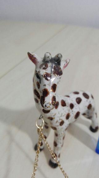 Peculiar juego de jirafas pintado a mano japonesas